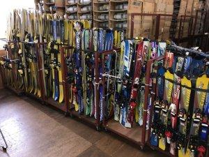 画像1: 中古スキー板&ビンディング(カービングスキー)